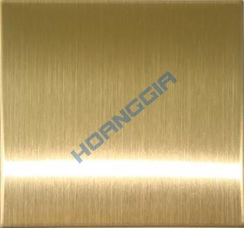 Inox chống vân tay hairline gold anti fingerprint